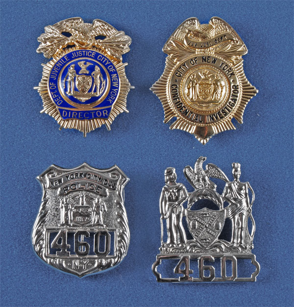Police, Sheriff, Ranger & Military Branch Badges, NYC Police Badges,